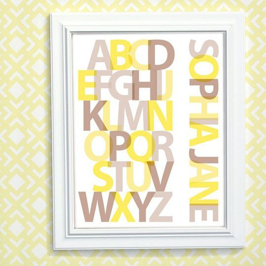 April Alphabet Prints | Printing, Nursery and Baby baby