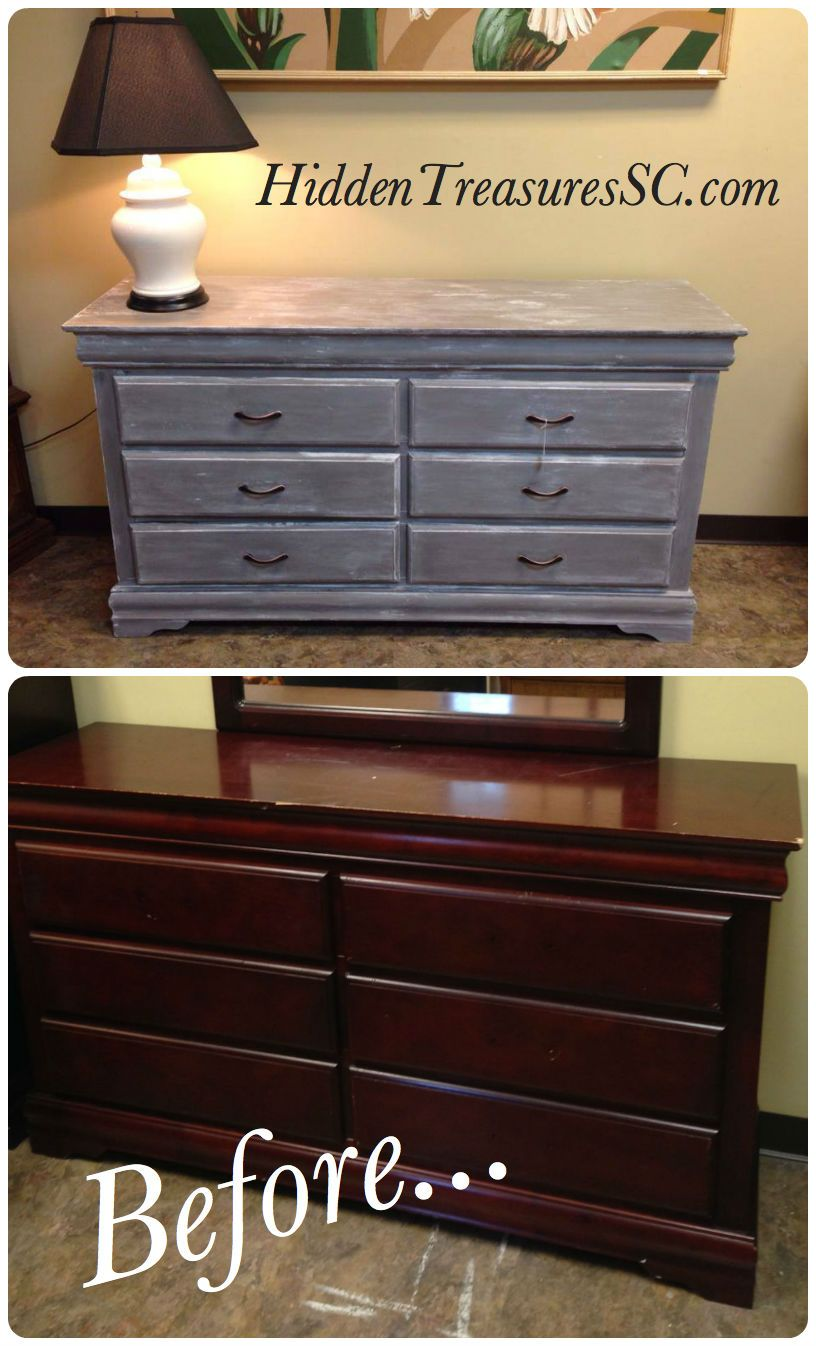 Best Old Mahogany Dresser Makeover Using Homemade Chalk Paint 400 x 300