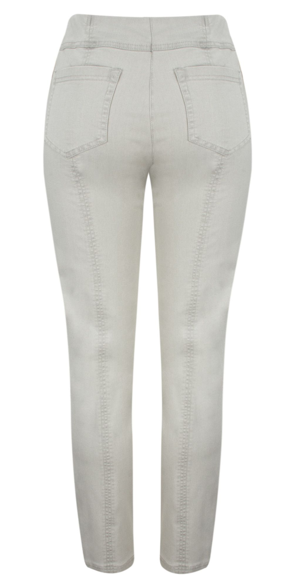 0823b80f976f Robell Trousers Bella Slim Fit Full Length Jean in Light Grey ...