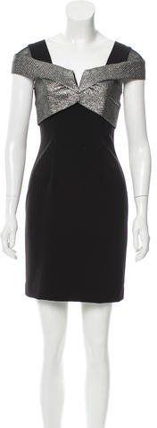 Nicole Miller Contrast Cap Sleeve Dress w/ Tags