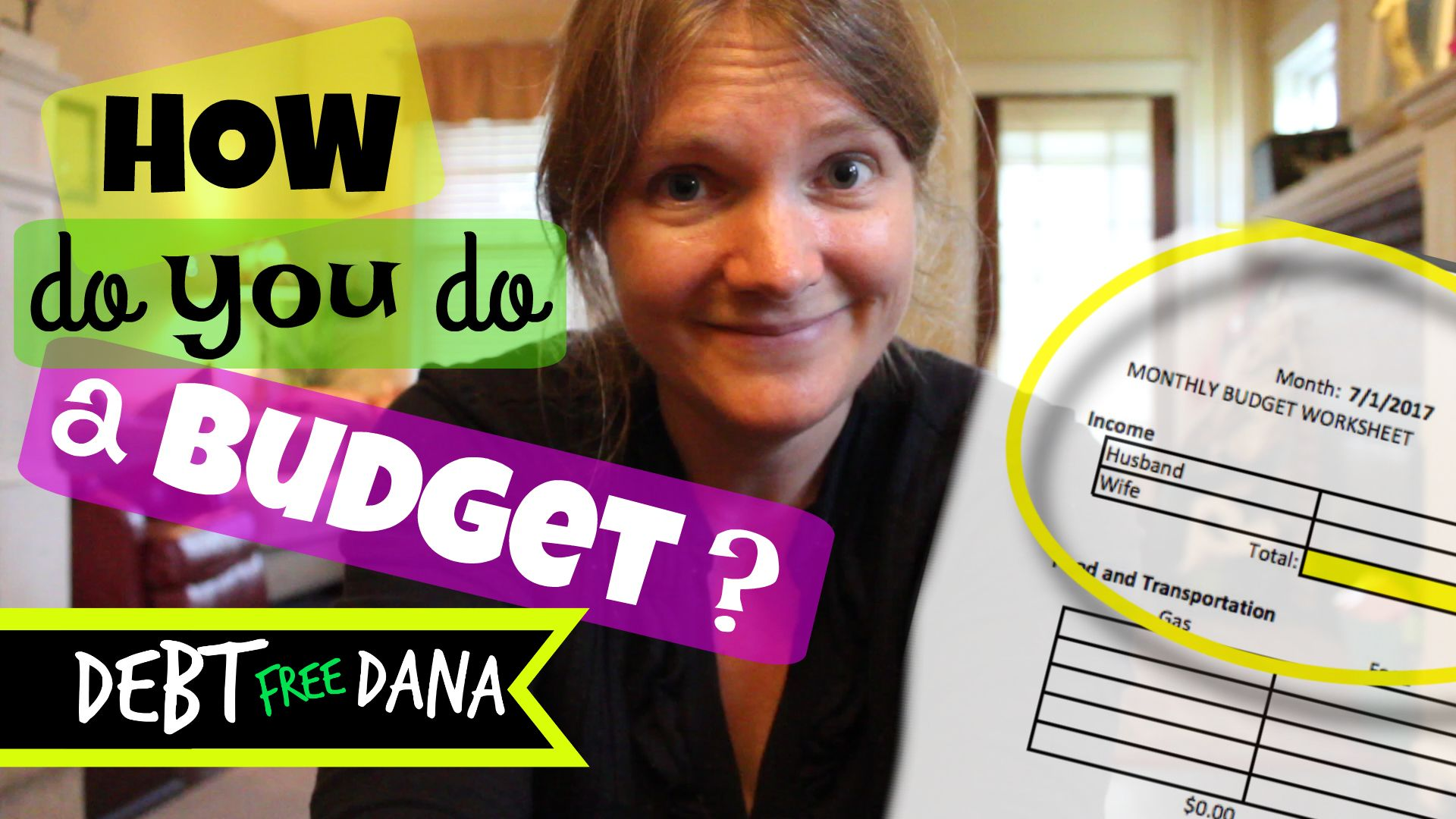 Free Budget Template To Get Out Of Debt