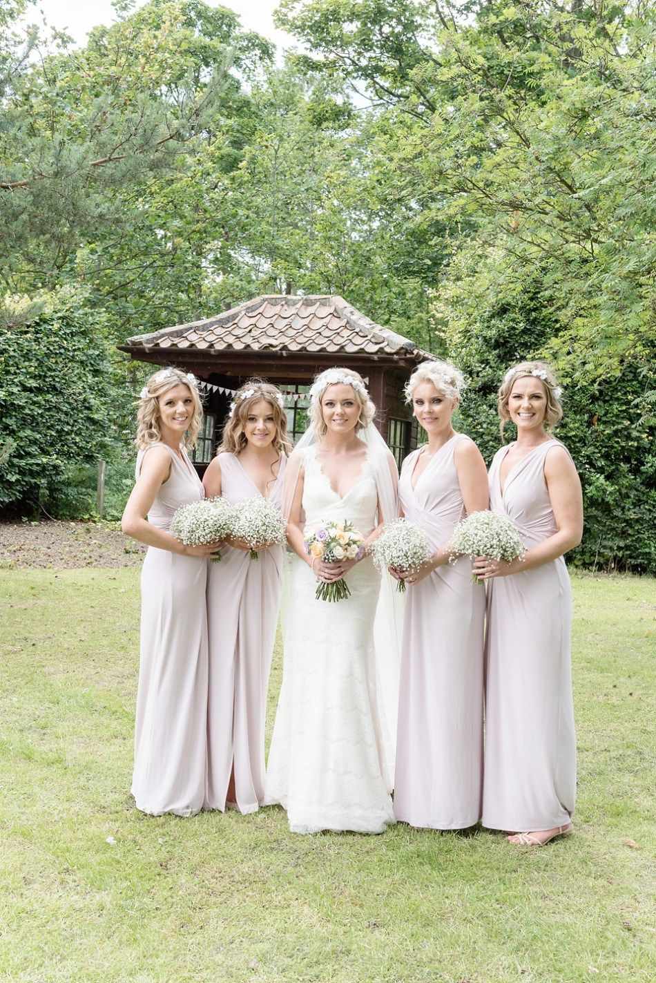 An Essense Of Australia Dress For A Homespun Outdoor Country Wedding In Pretty Pastel Shades Photography By Julie Tinton