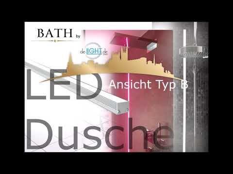 Led Lichtleiste Dusche Nische Bad Youtube Beleuchtung