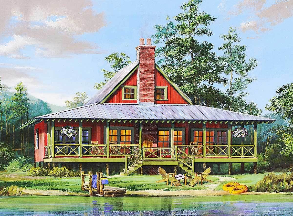 Plan 32624WP: Charming Two Bedroom Getaway | Lofts, Cabin and Bedrooms