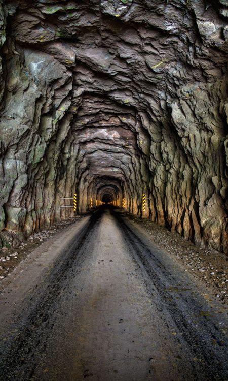 Tunnel in the Island of Kalsoy, Faroe Islands   Most ...