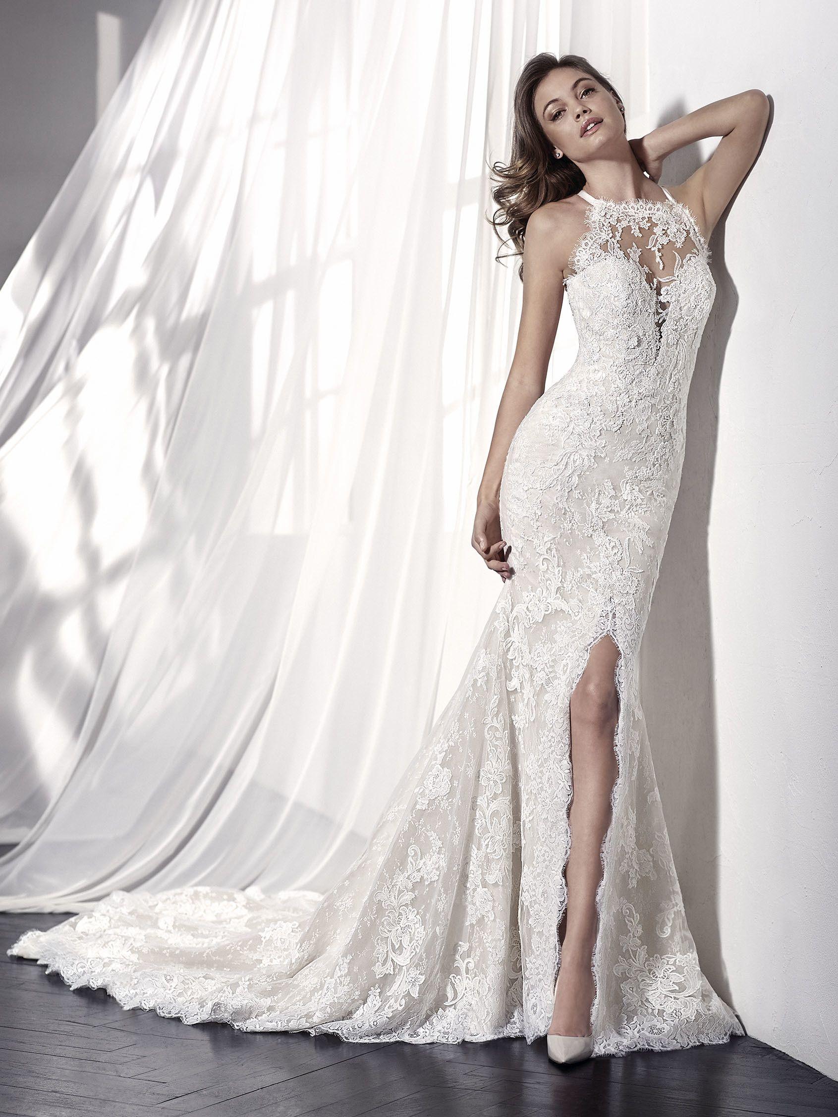 LEONILA vestido de novia escote halter | Vestidos de novia ...