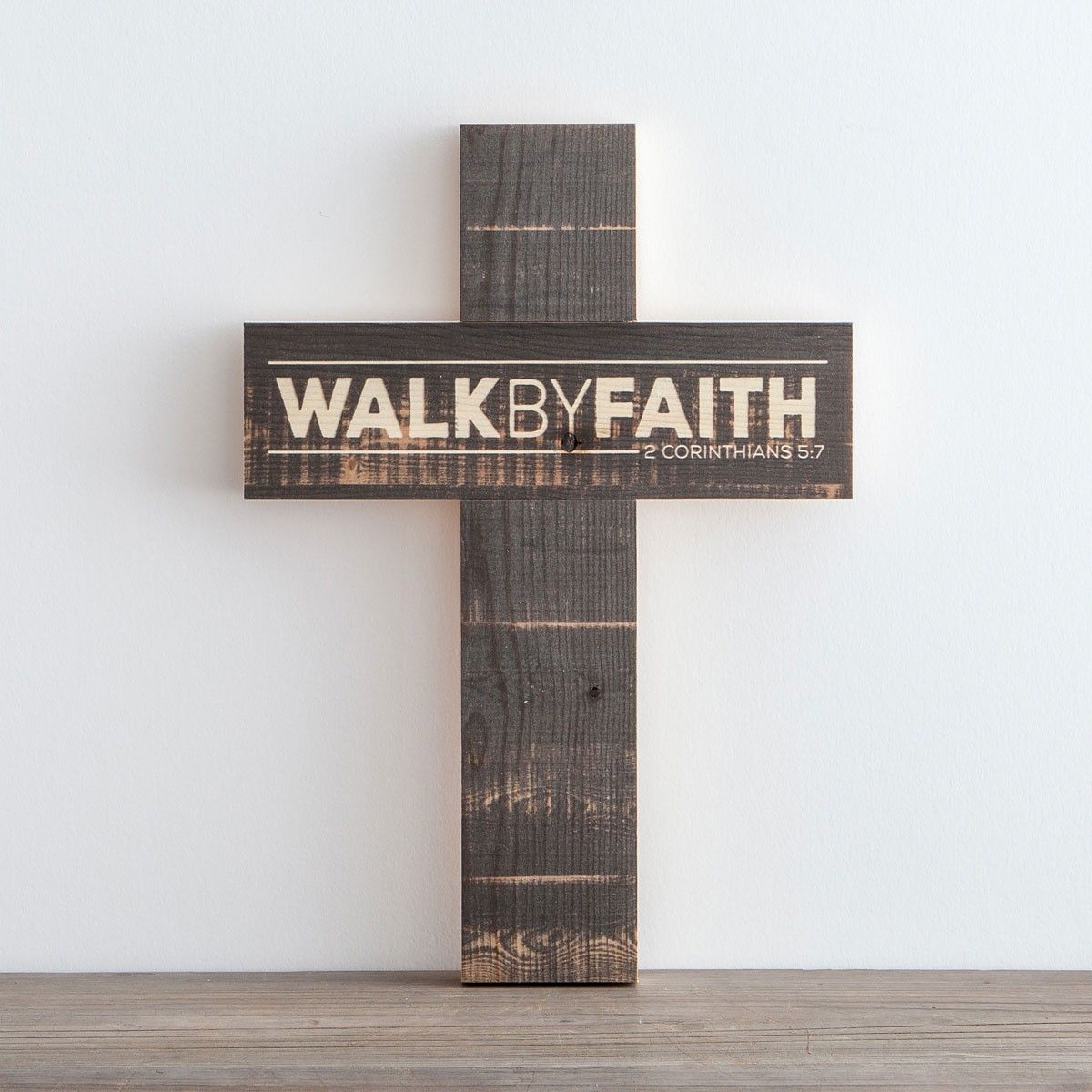 Incroyable Walk By Faith   Wooden Cross