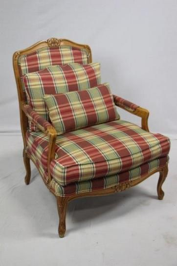 Middlebury Consignment   Middlebury, CT Furniture Consignment   Inventory   Plaid  Upholstered Chair