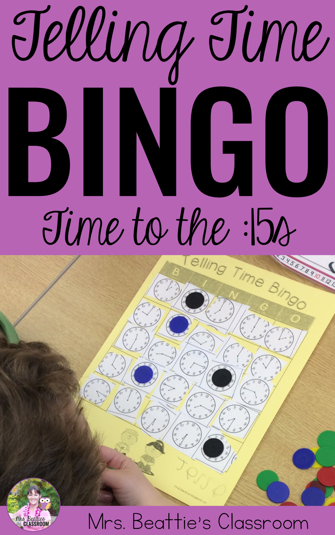 Telling time time to the 15s game this do it yourself bingo game from mrs beatties classroom includes a blank solutioingenieria Image collections