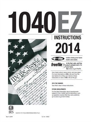 Overdrive PDF Ebook 1040EZ 2014 Tax Instructions Taxes Pinterest - Service Forms In Pdf