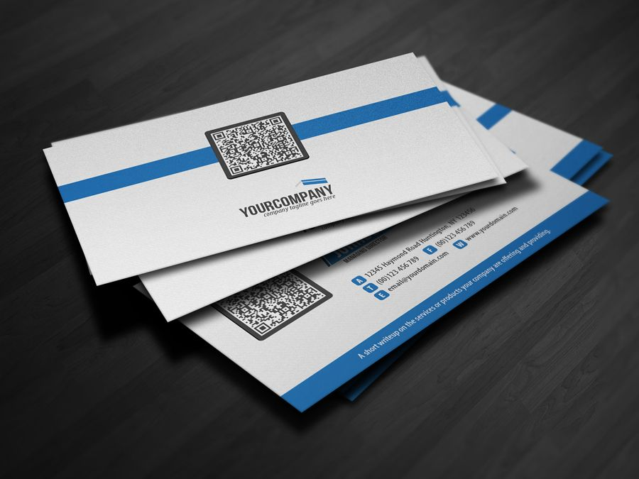 Corporate qr code business card v3 by glenngoh on