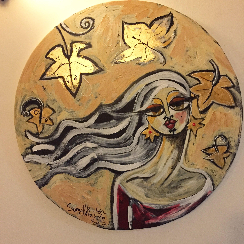 تشرين الأول October Mixed Media Size 80cm تشرين الأول أكتوبر سرى الخفاجي الخريف أوراق فن تشكيلي رسم لوحات A Refugees Art Art Art Projects