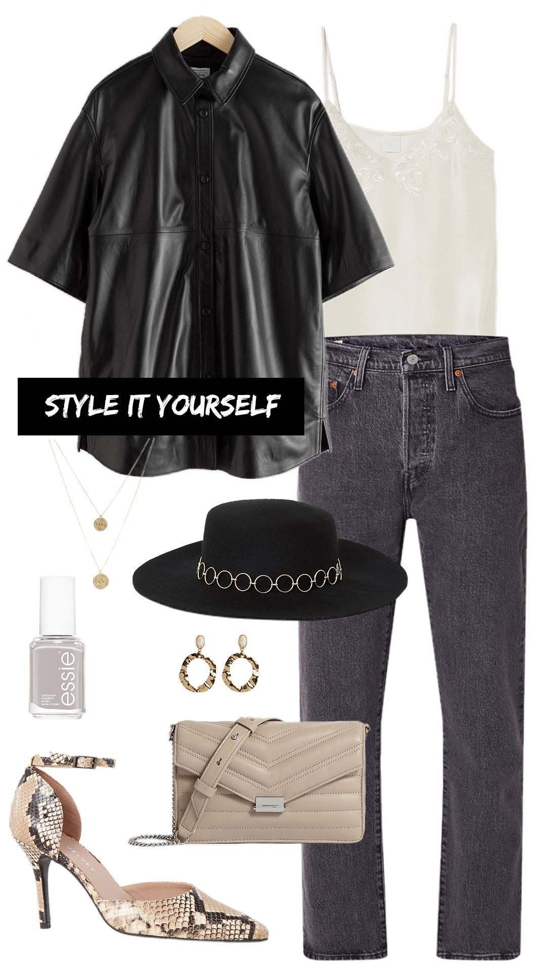Style It Yourself Leren blouse MonStyle | Blouse