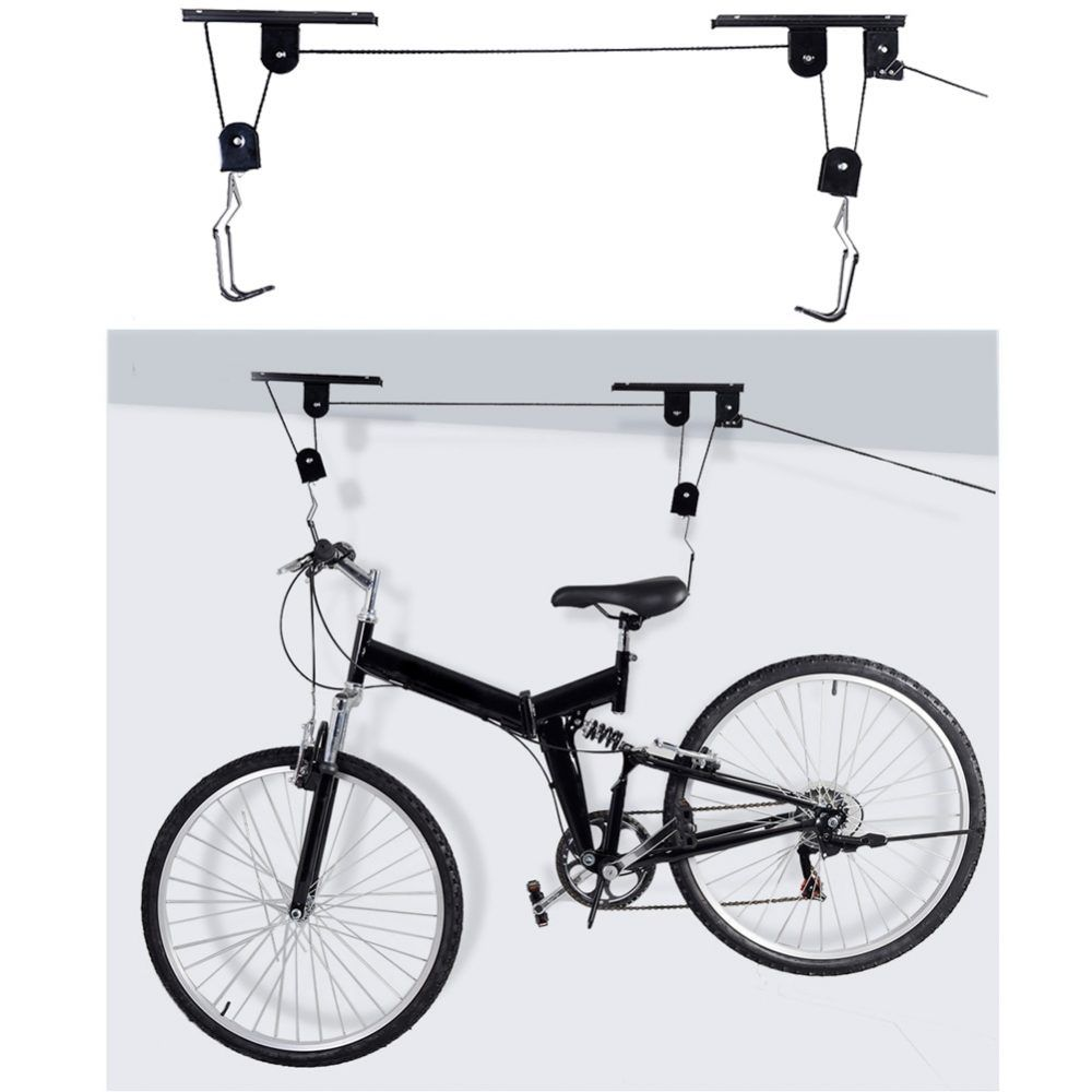 45LB Strong Bike Bicycle Lift Ceiling Mounted Hoist