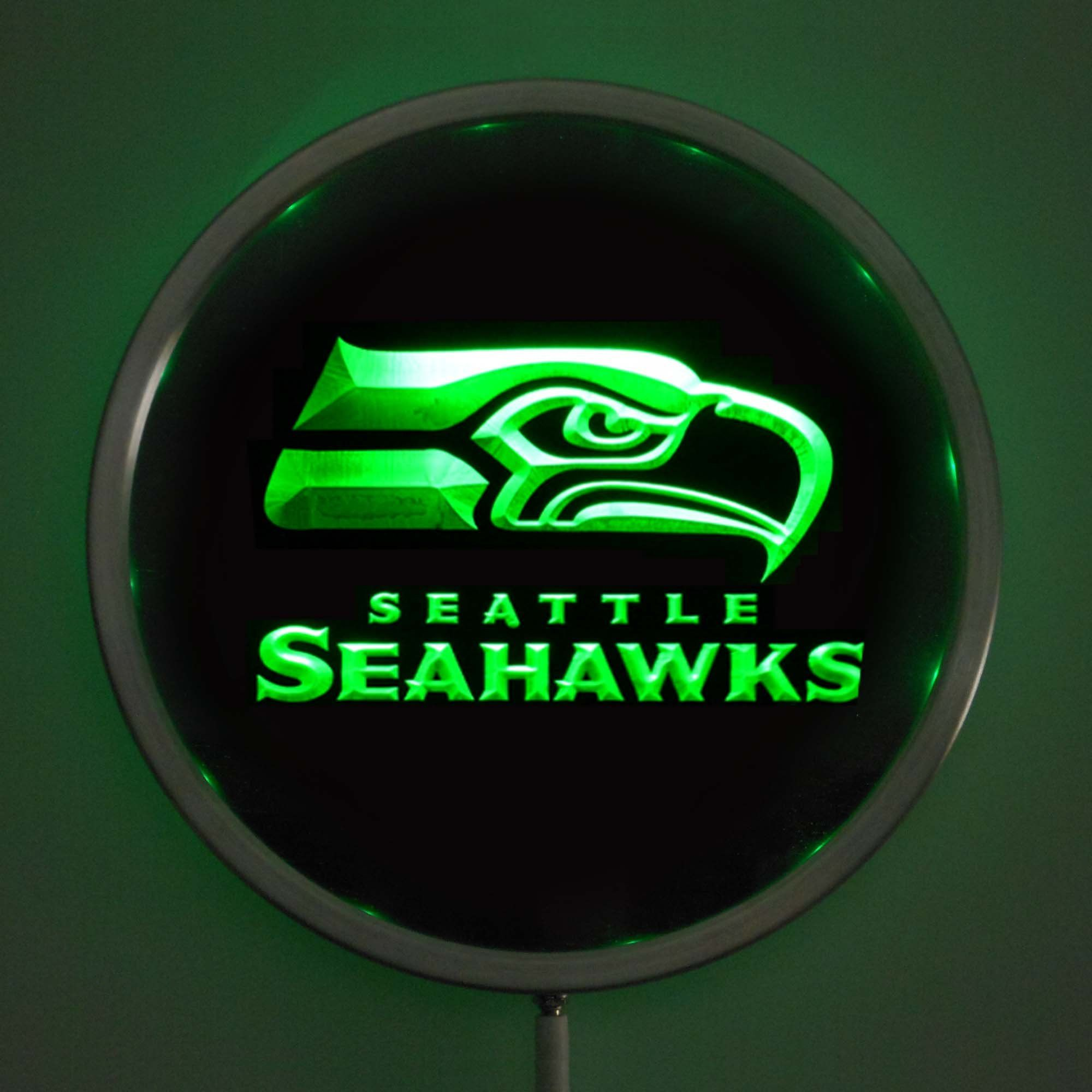 Seattle Seahawks LED Neon Round Sign in 2020 Seattle