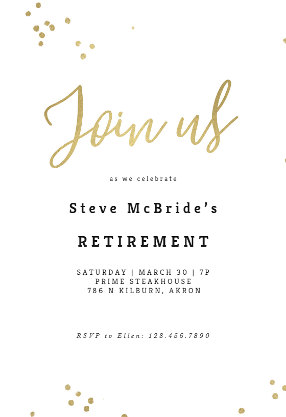 Retirement invitations free templates burge. Bjgmc-tb. Org.