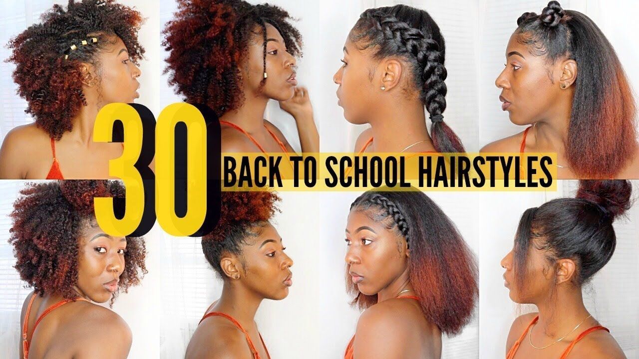 30 Back To School Hairstyles Curly Straight Bts 2017 Youtube Back To School Hairstyles Hairstyles For School Curly Hair Styles Naturally