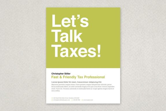 Friendly Tax Agent Flyer Template A bold and eye catching design - workshop flyer template