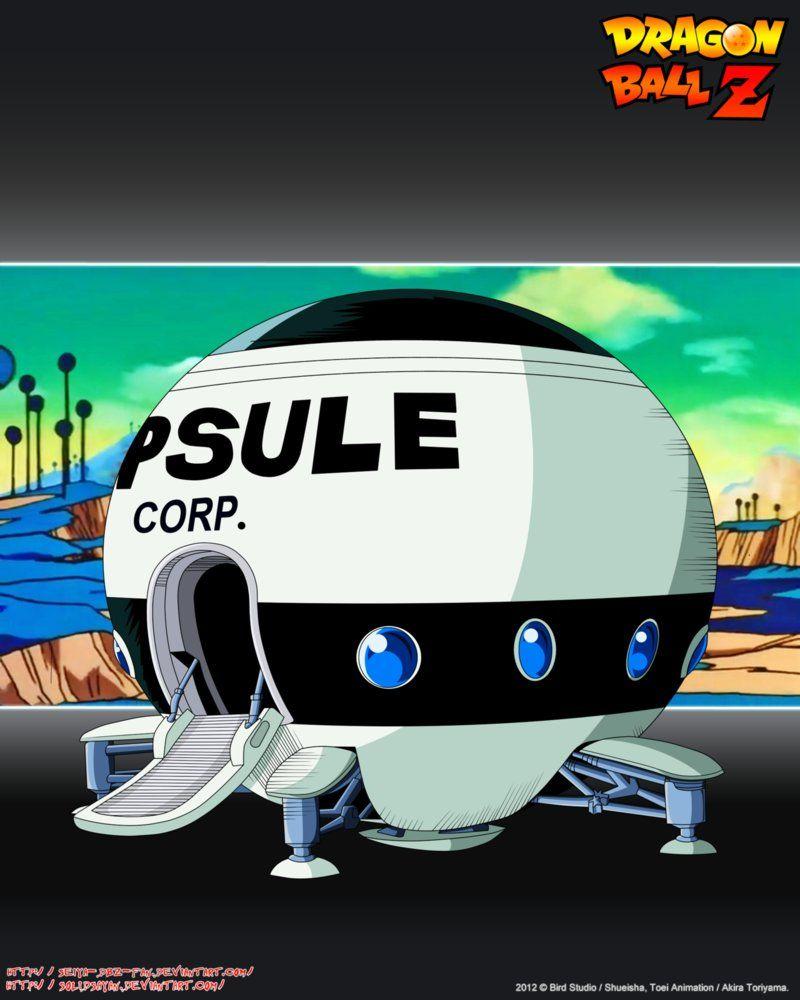 Spaceship Capsule Corp SFN | Dbz, Cute monsters, Dragon ball