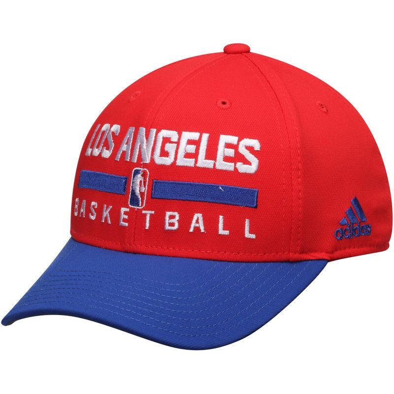 the latest 5f1a5 35de2 LA Clippers adidas 2Tone Practice Structured Adjustable Hat - Red