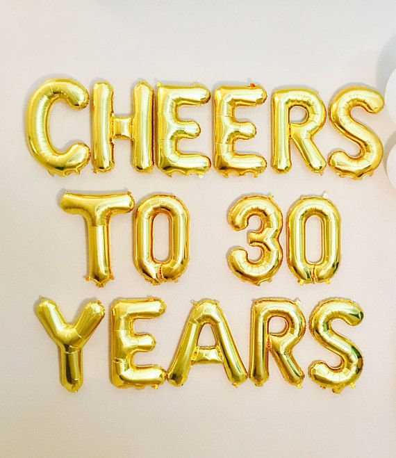 cheers to 30 years balloons 30 year reunion class reunion banner