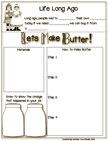 long ago experiment let 39 s make butter butter activities and students. Black Bedroom Furniture Sets. Home Design Ideas