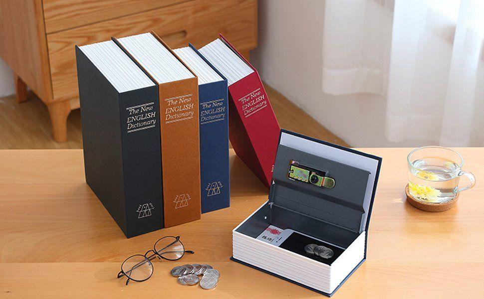 Amazon com: Book safe with Metal Lock box - HENGSHENG New