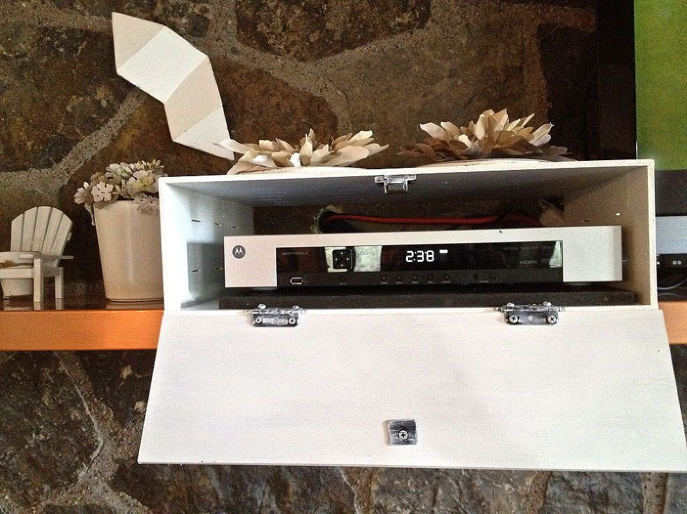 How To Hide The Cable Box Cable Box Hide Cable Box Wall Mounted Tv
