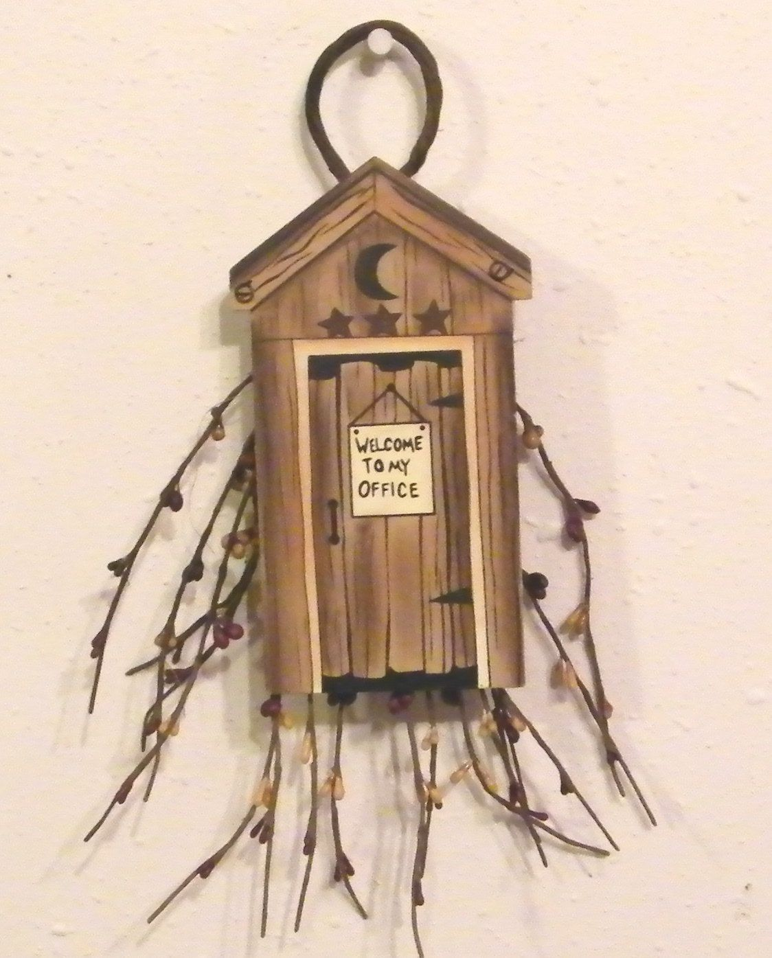 country bathroom decor | images of outhouse bath ornament sign