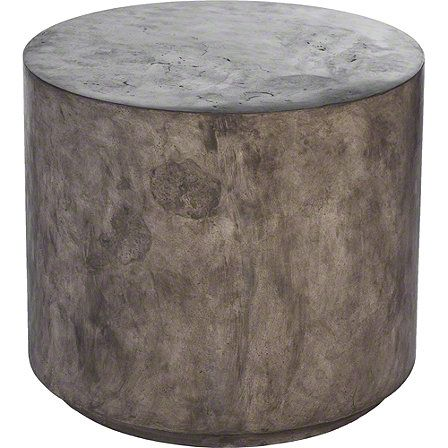 McGuire Furniture: Low Round Concrete Stool: No. 977 | Chairs ...