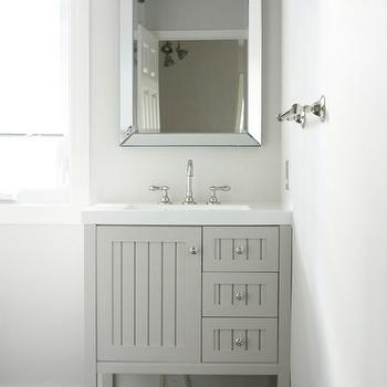 . Sharkey Gray  Cottage  bathroom  Martha Stewart Sharkey Gray  In the