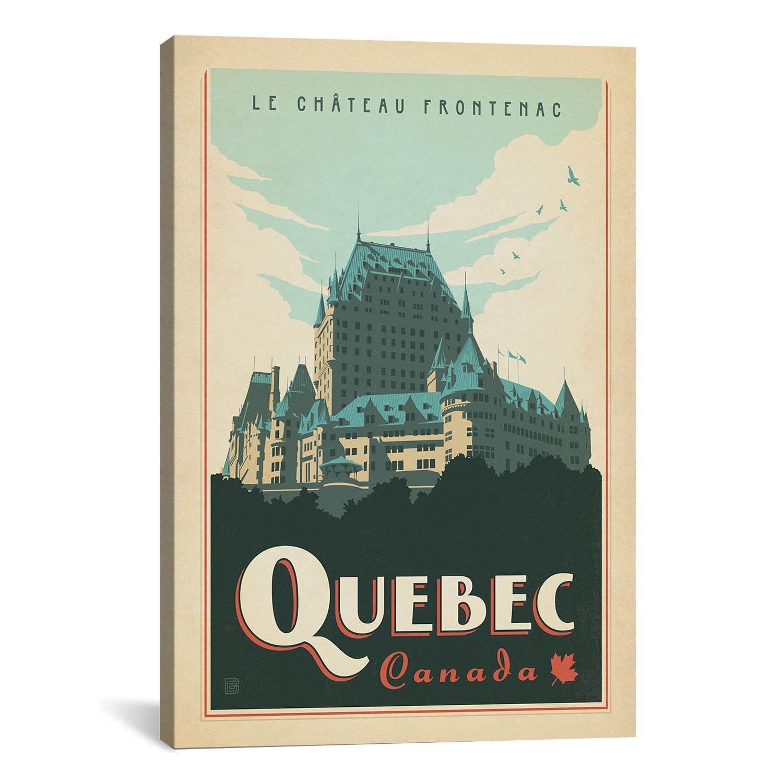 iCanvas Anderson Design Group 'Quebec, Canada' Vintage
