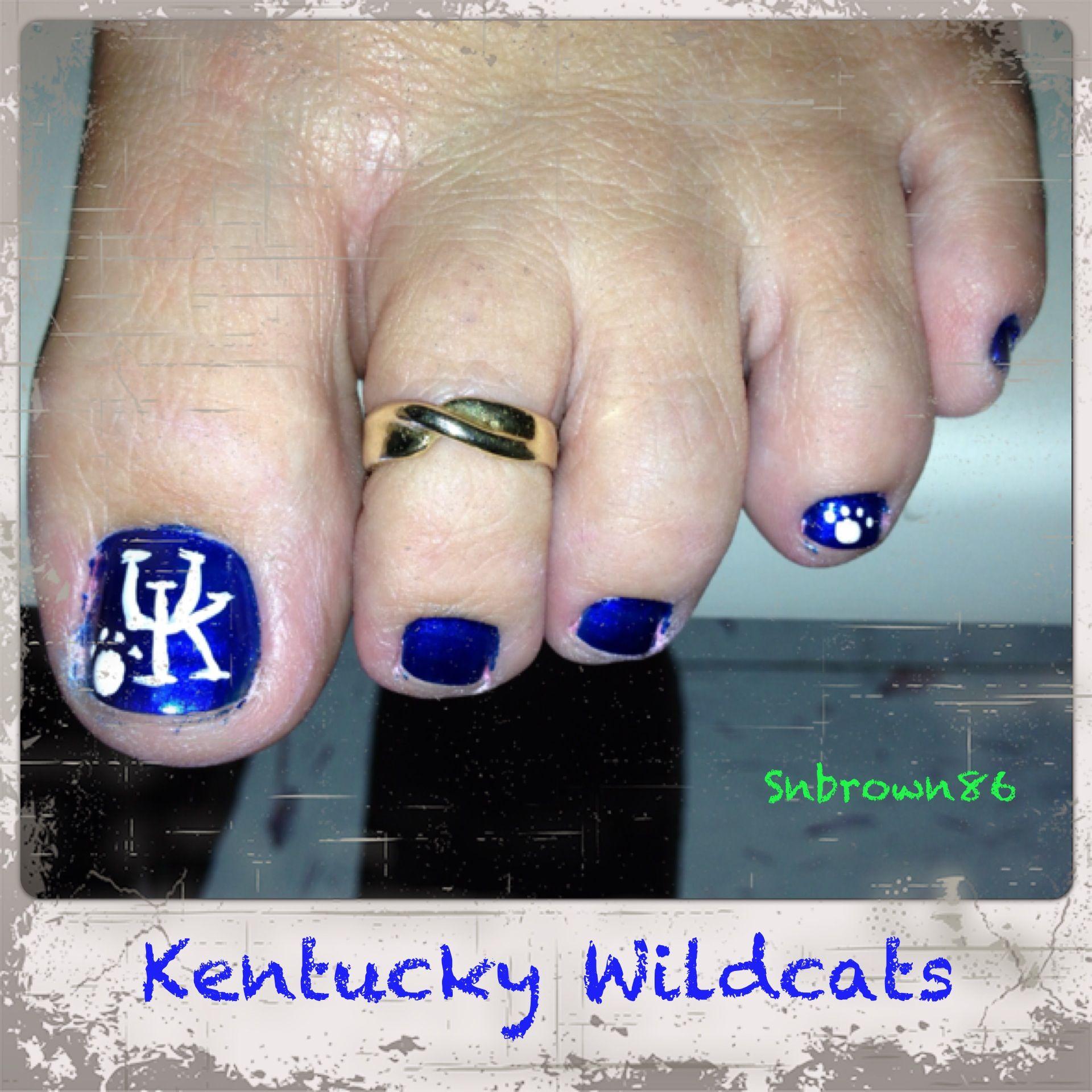 Kentucky Wildcat toe nails   Nail Art   Pinterest   Kentucky