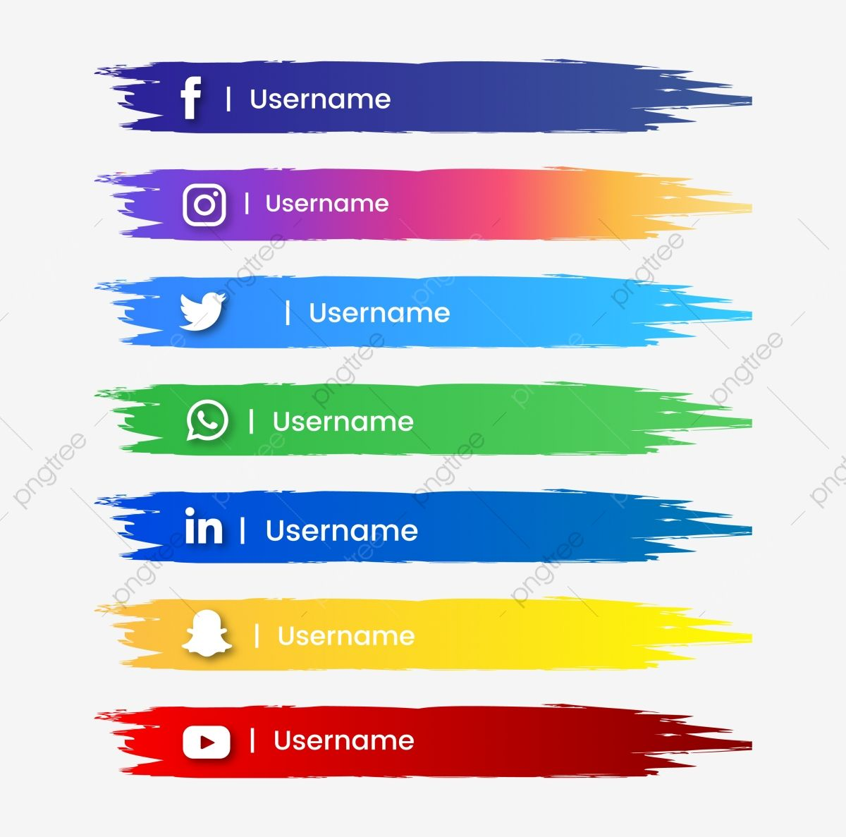 Social Media Button Abstract Brush Stroke And Color Gradient Social Media Clipart Social Media Png And Vector With Transparent Background For Free Download Social Media Buttons Graphic Design Background Templates Social