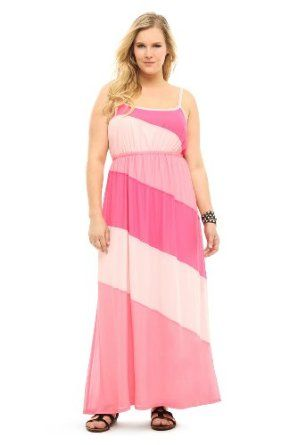 0336a84f5f6 Pink Color Block Maxi Dress Torrid.  58.50 Pink Maxi Dresses