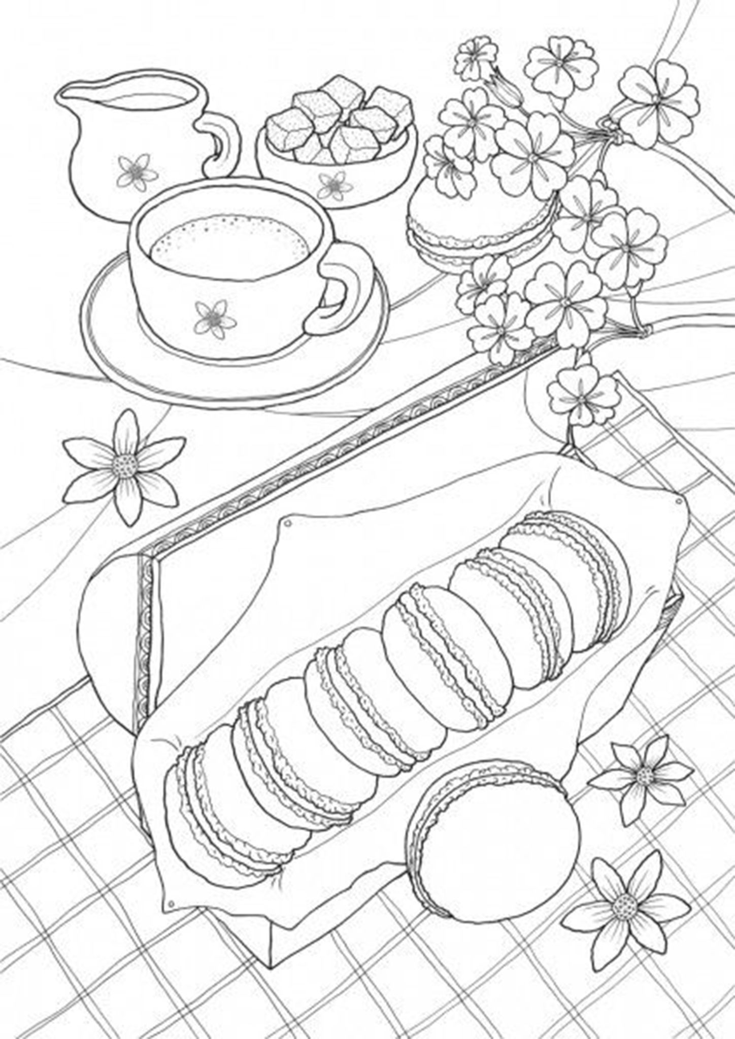 Free Easy To Print Food Coloring Pages Food Coloring Pages Coloring Pages Coloring Book Pages [ 2048 x 1448 Pixel ]