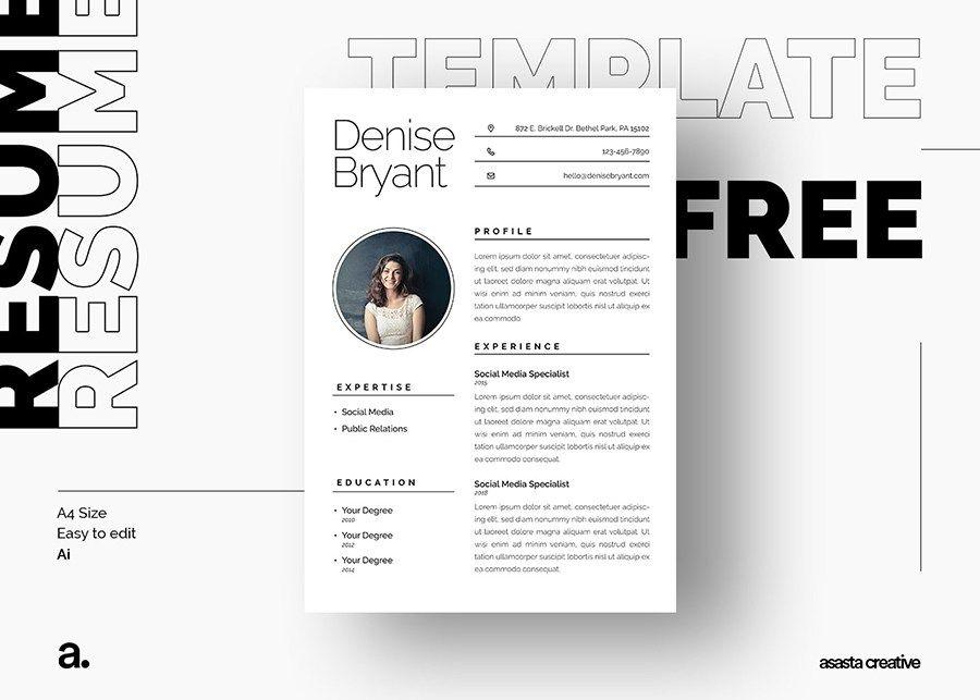 Syra Free Resume Template Illustrator resume, Resumé