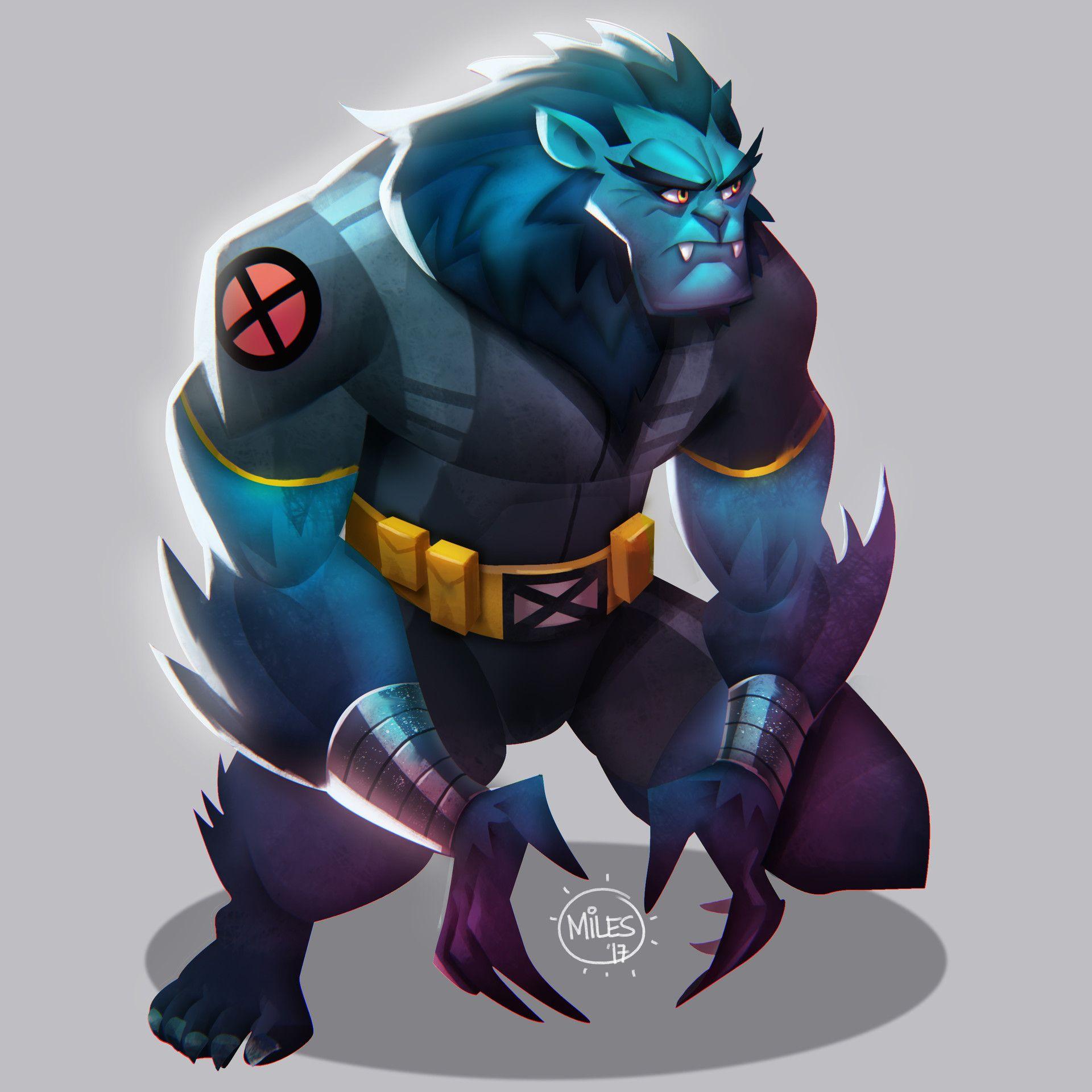 X Men Beast By Miles Dulay Beast Marvel Beast Xmen Beast Xmen Art