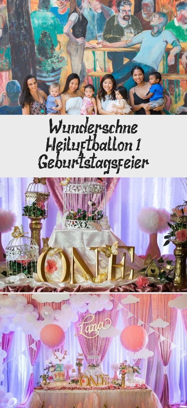 Wunderschone Heissluftballon 1 Geburtstagsfeier Geburtstagsfeier