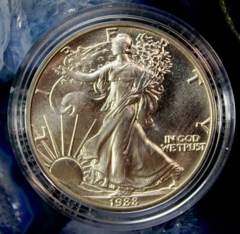 1988 United States Walking Liberty 999 1oz Fine Silver One Dollar Coin Coins Dollar Coin Coins Worth Money