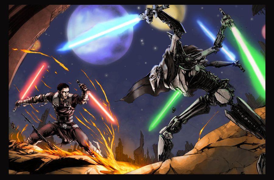 Art Of Starkiller Vs General Grievous Star Wars Images