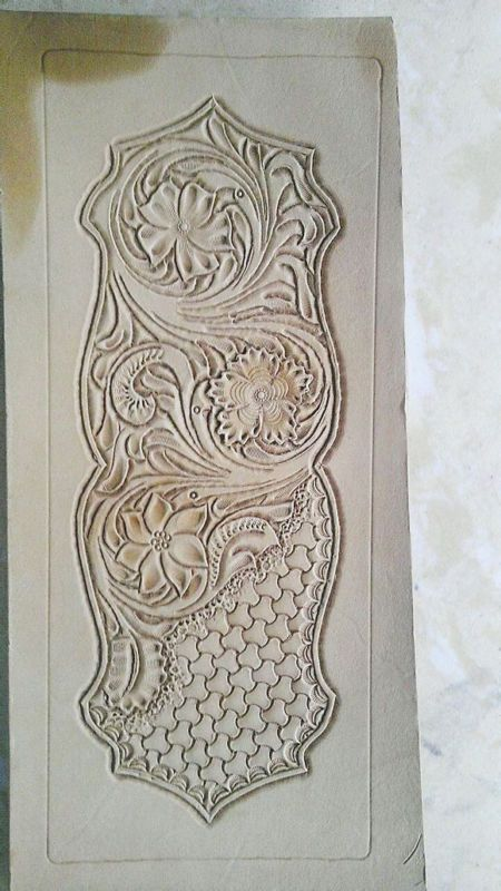 Leather Tooling Short Wallet Pattern Carving Patterns