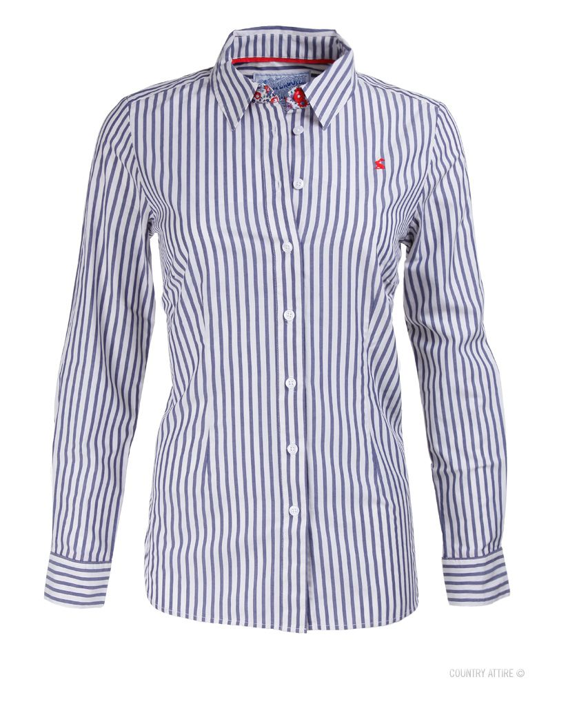 cb4d7a67a54  Joules Ladies  Kingston Shirt – Indigo Stripe Q KINGSTON  Shirt  SS14