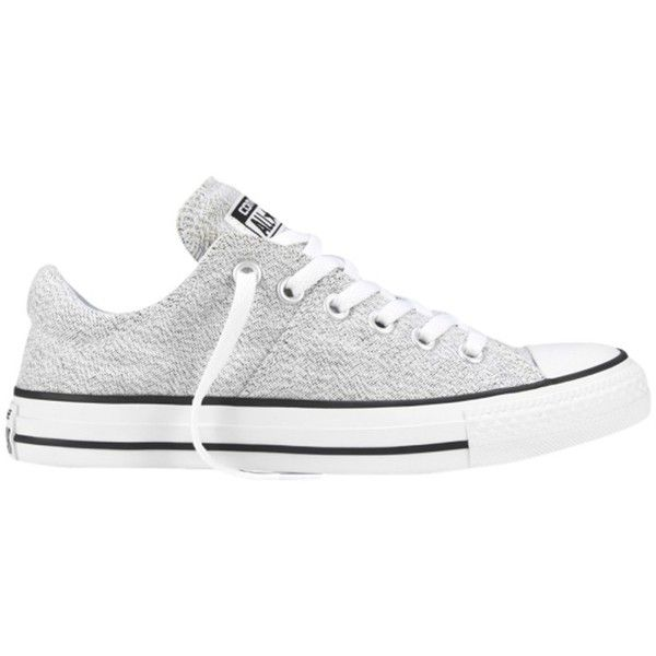 Converse Chuck Taylor All Star Ox Madison Canvas Trainers, White ($76) ❤ liked on Polyvore featuring shoes, sneakers, sport shoes, converse sneakers, converse shoes, flat shoes and low sneakers #whiteallstars