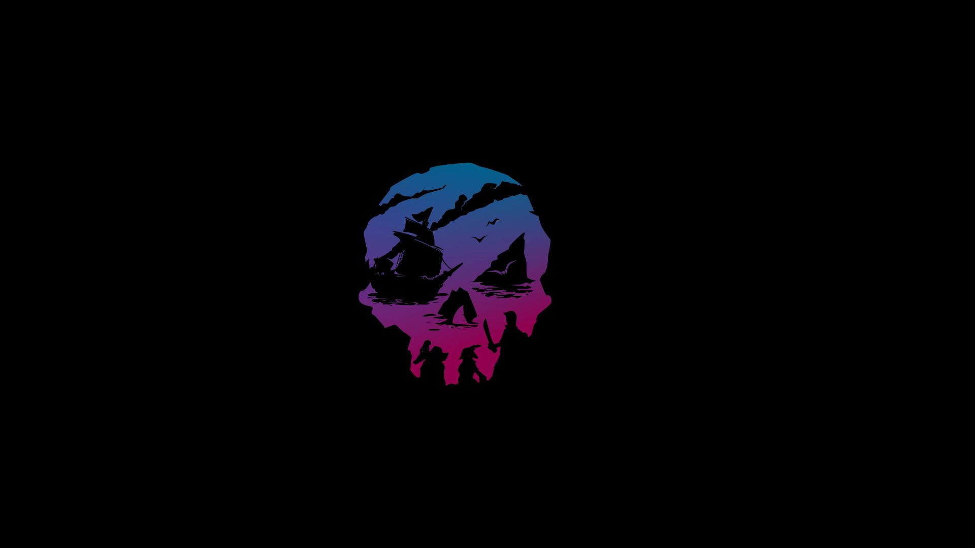 1920x1080px Free Download Hd Wallpaper Sea Of Thieves Neon Skull Video Game In 2021 4k Gaming Wallpaper Gaming Wallpapers Computer Wallpaper Desktop Wallpapers