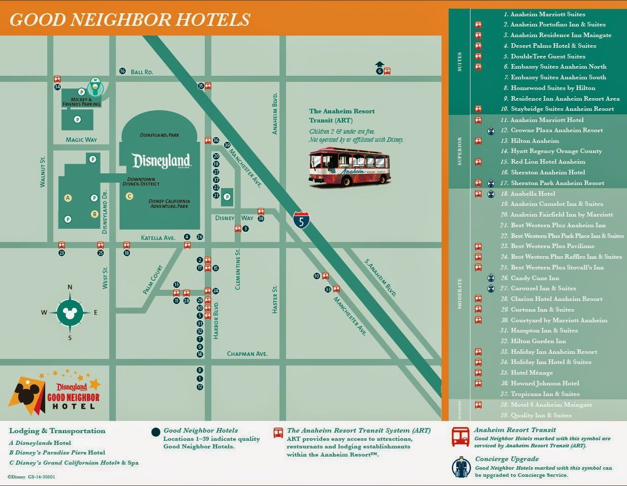 Disneyland Good Neighbor Hotel Map