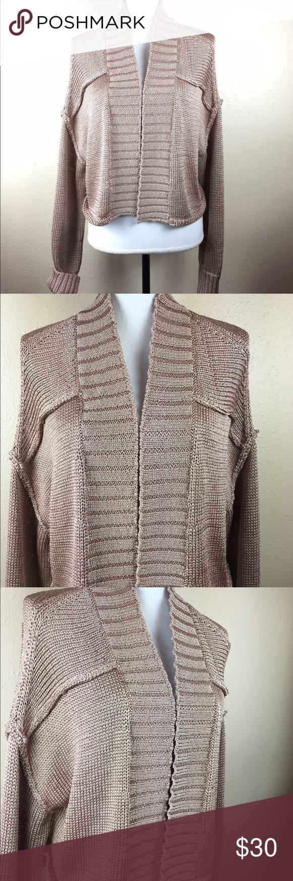 Elizabeth & James Tan Shrug Knit Sweater Size L Great sweater ...