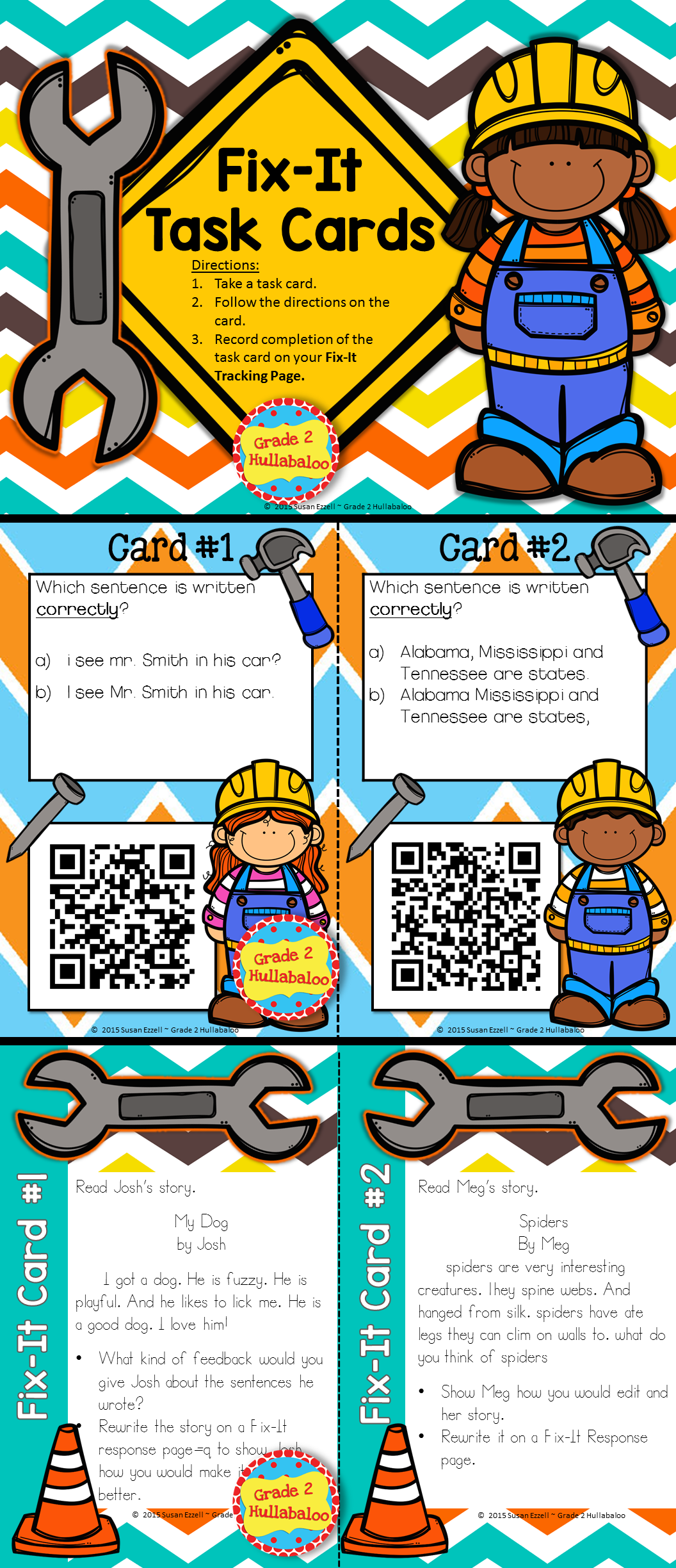 Editing Qr Codes Task Cards