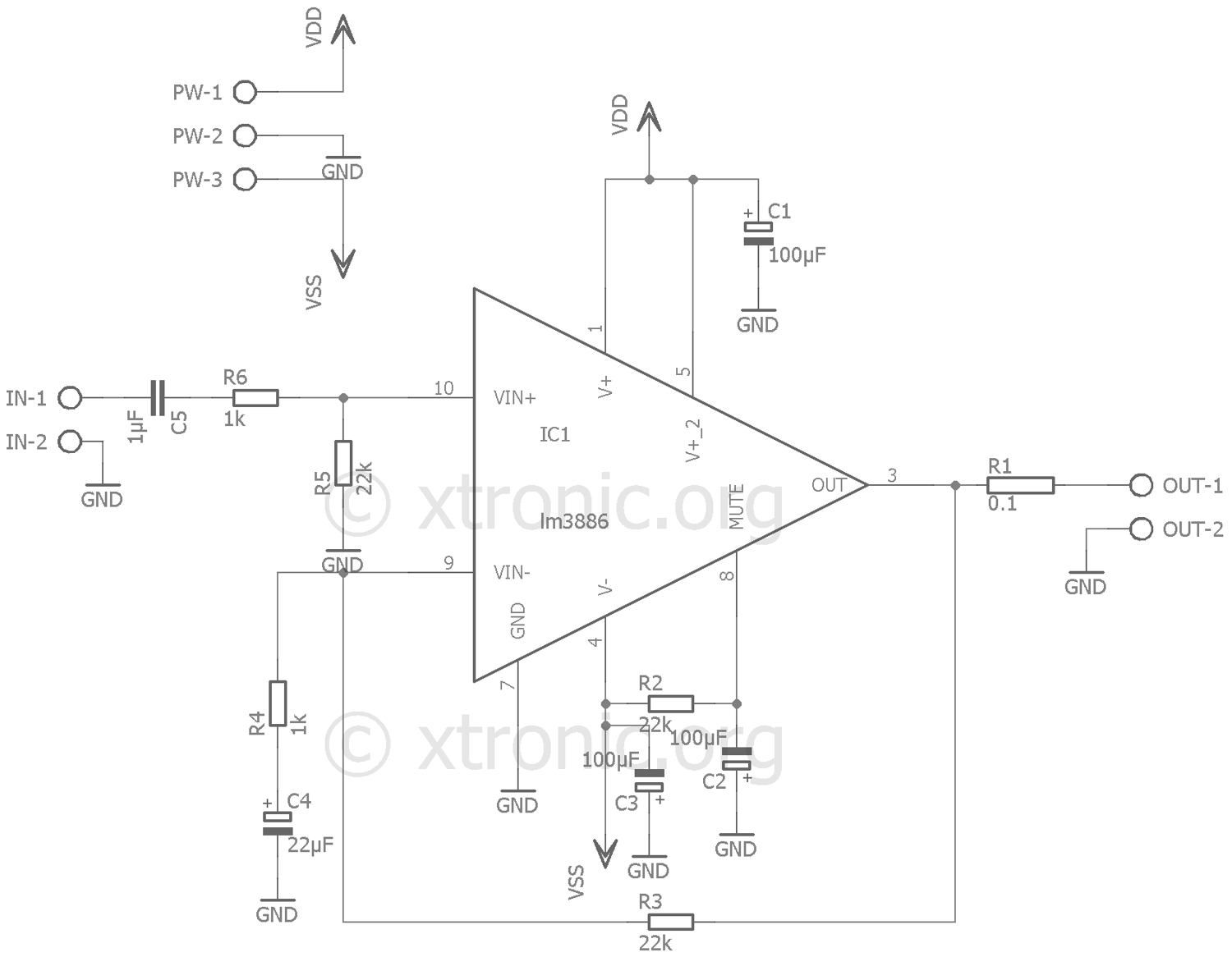 lm3886 minimus power schematic 700x544 lm3886 minimus