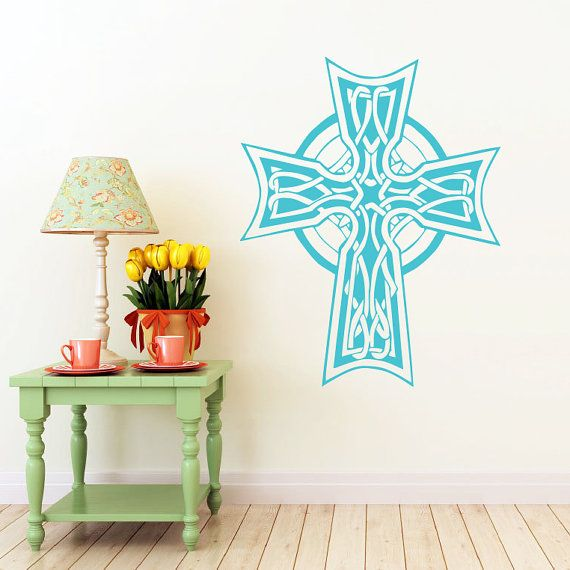 Celtic Cross Wall Decal Celtic Cross Decals by ...